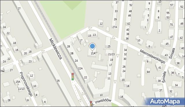 Warszawa, Mierosławskiego Ludwika, gen., 11A, mapa Warszawy