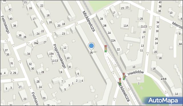 Warszawa, Mickiewicza Adama, 25, mapa Warszawy