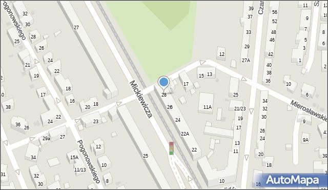 Warszawa, Mickiewicza Adama, 28, mapa Warszawy