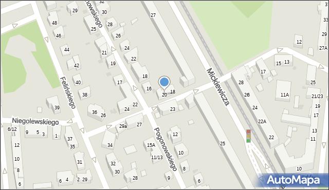 Warszawa, Mierosławskiego Ludwika, gen., 20, mapa Warszawy