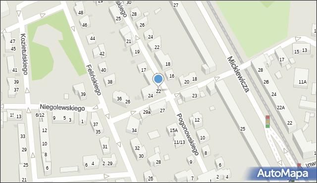 Warszawa, Mierosławskiego Ludwika, gen., 22, mapa Warszawy