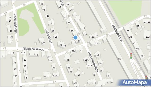 Warszawa, Mierosławskiego Ludwika, gen., 24, mapa Warszawy