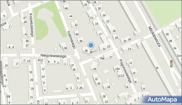 Warszawa, Mierosławskiego Ludwika, gen., 26, mapa Warszawy