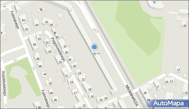 Warszawa, Mickiewicza Adama, 27, mapa Warszawy