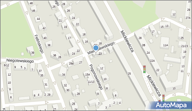 Warszawa, Mierosławskiego Ludwika, gen., 25, mapa Warszawy