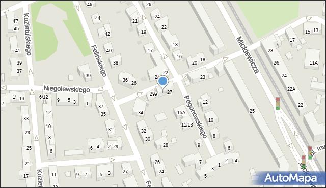 Warszawa, Mierosławskiego Ludwika, gen., 29, mapa Warszawy