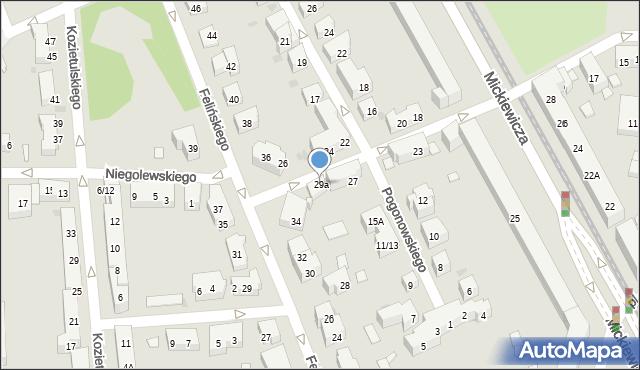 Warszawa, Mierosławskiego Ludwika, gen., 29a, mapa Warszawy