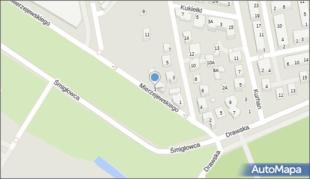 Warszawa, Mierzejewskiego Henryka, 1, mapa Warszawy