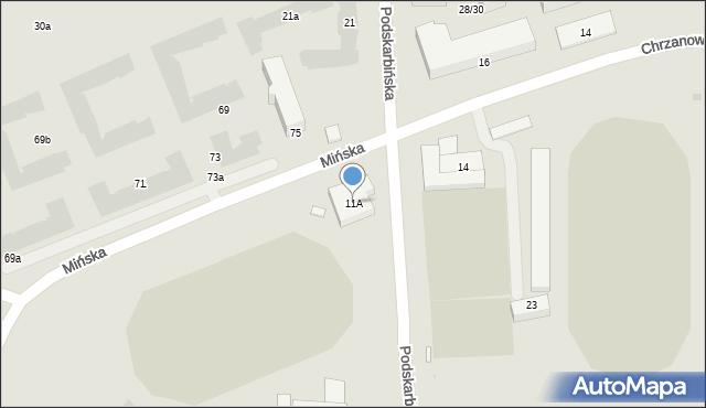 Warszawa, Mińska, 11A, mapa Warszawy