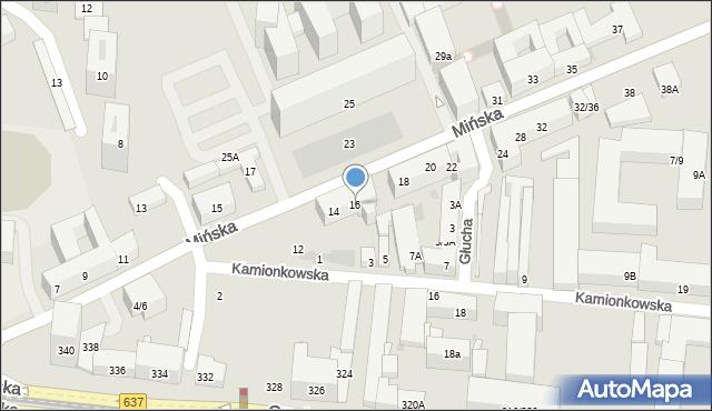 Warszawa, Mińska, 16, mapa Warszawy