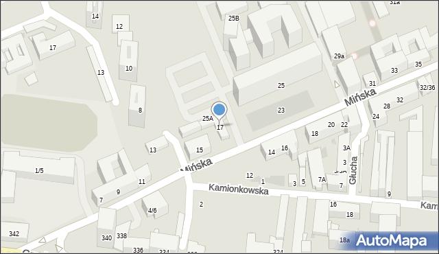 Warszawa, Mińska, 17, mapa Warszawy