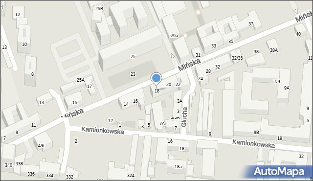 Warszawa, Mińska, 18, mapa Warszawy