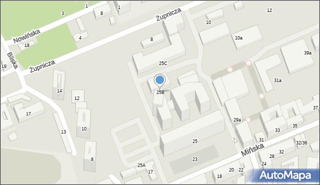Warszawa, Mińska, 25B, mapa Warszawy