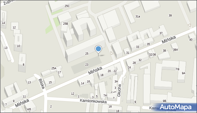 Warszawa, Mińska, 25p, mapa Warszawy
