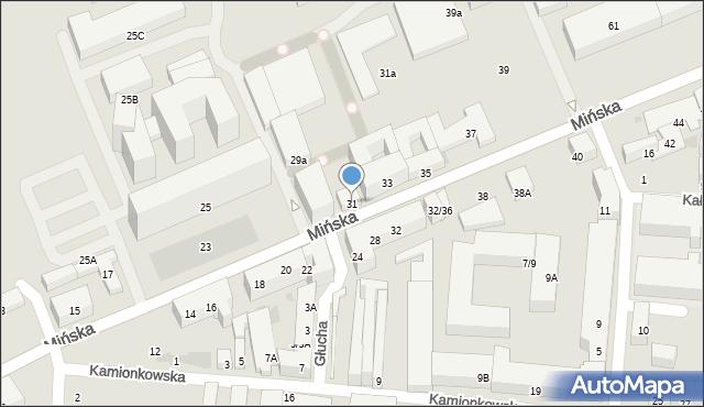 Warszawa, Mińska, 31, mapa Warszawy