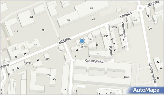 Warszawa, Mińska, 42, mapa Warszawy