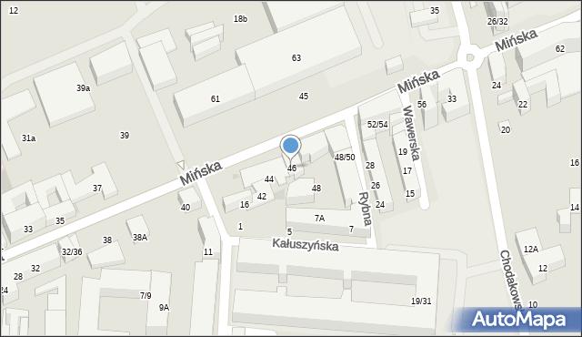 Warszawa, Mińska, 46, mapa Warszawy