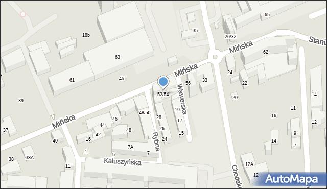 Warszawa, Mińska, 52/54, mapa Warszawy