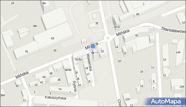 Warszawa, Mińska, 56, mapa Warszawy
