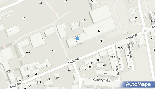 Warszawa, Mińska, 63A, mapa Warszawy