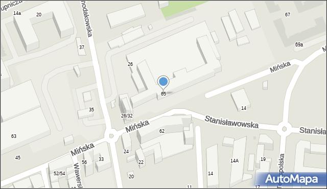 Warszawa, Mińska, 65, mapa Warszawy