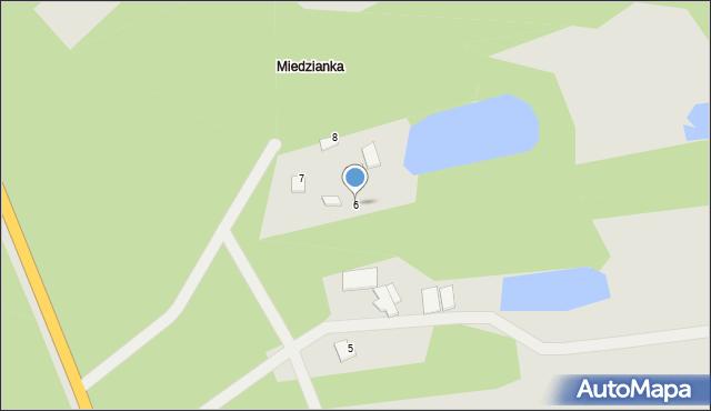 Węgrów, Miedzanka, 6, mapa Węgrów
