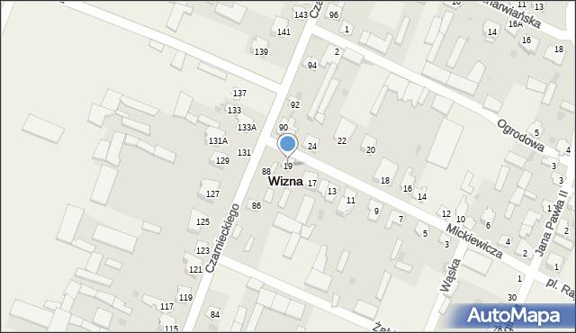 Wizna, Mickiewicza Adama, 19, mapa Wizna