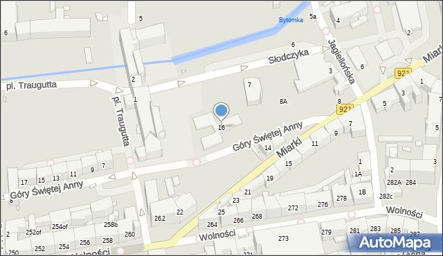 Zabrze, Miarki Karola, 16, mapa Zabrza