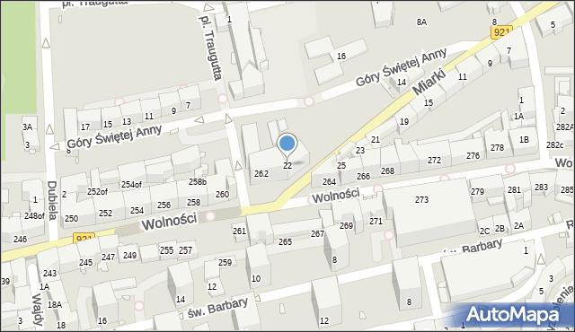 Zabrze, Miarki Karola, 22, mapa Zabrza