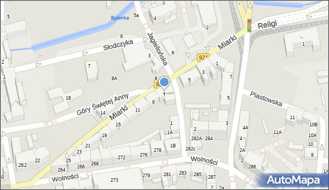 Zabrze, Miarki Karola, 7, mapa Zabrza
