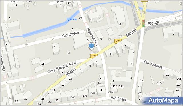 Zabrze, Miarki Karola, 8, mapa Zabrza