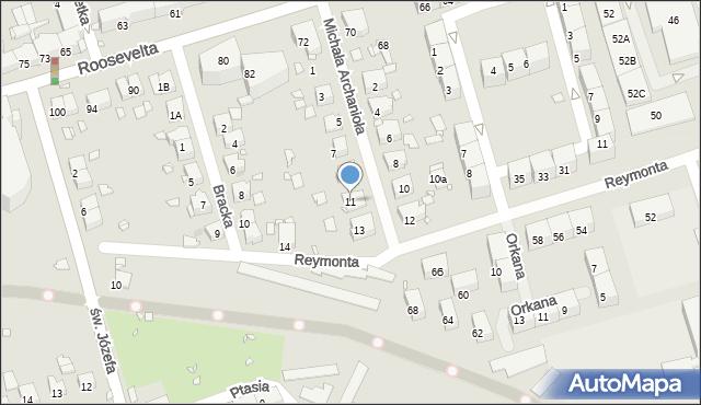 Zabrze, Michała Archanioła, 11, mapa Zabrza