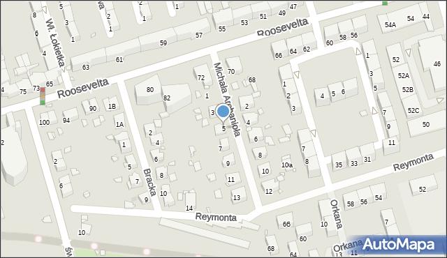 Zabrze, Michała Archanioła, 5, mapa Zabrza