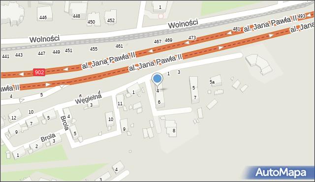 Zabrze, Mikołowska, 4, mapa Zabrza