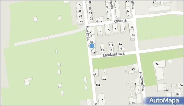 Bytom, Młodzieżowa, 15A, mapa Bytomia