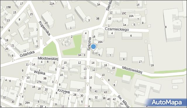 Chełm, Młodowskiej Jadwigi, 5a, mapa Chełma