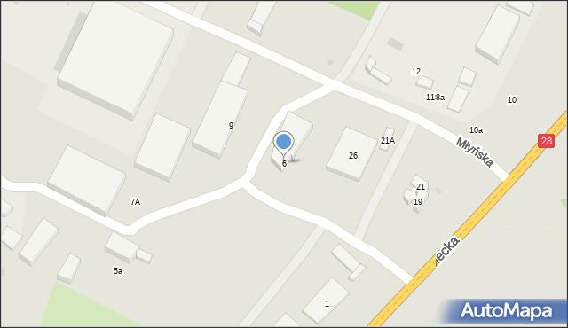 Gorlice, Młyńska, 6, mapa Gorlic