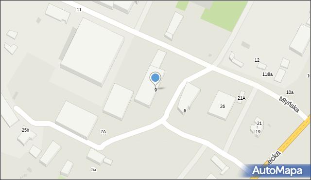 Gorlice, Młyńska, 9, mapa Gorlic