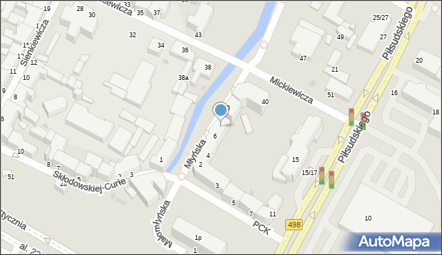 Grudziądz, Młyńska, 8, mapa Grudziądza