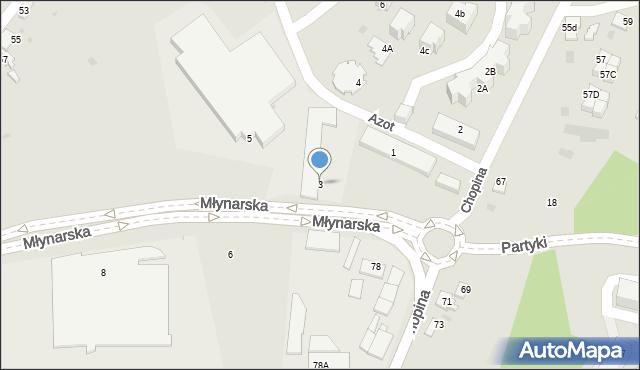 Jaworzno, Młynarska, 3, mapa Jaworzno