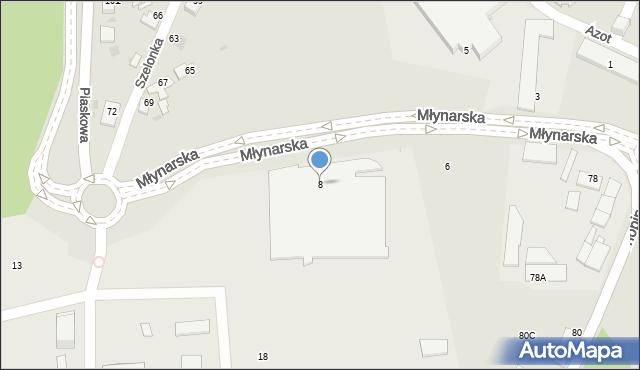 Jaworzno, Młynarska, 8, mapa Jaworzno