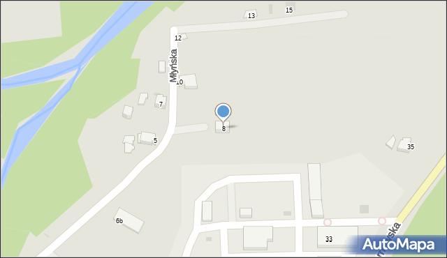 Limanowa, Młyńska, 8, mapa Limanowa