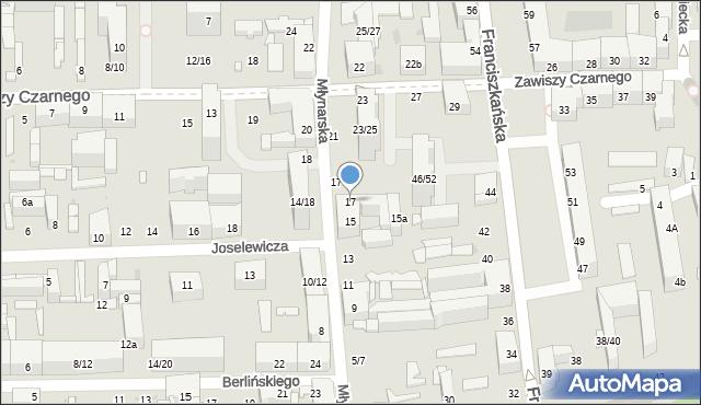 Łódź, Młynarska, 17, mapa Łodzi