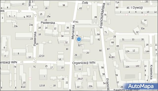 Łódź, Młynarska, 31, mapa Łodzi