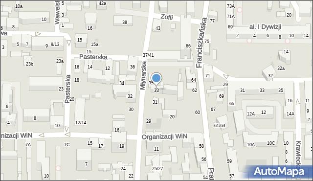 Łódź, Młynarska, 33, mapa Łodzi