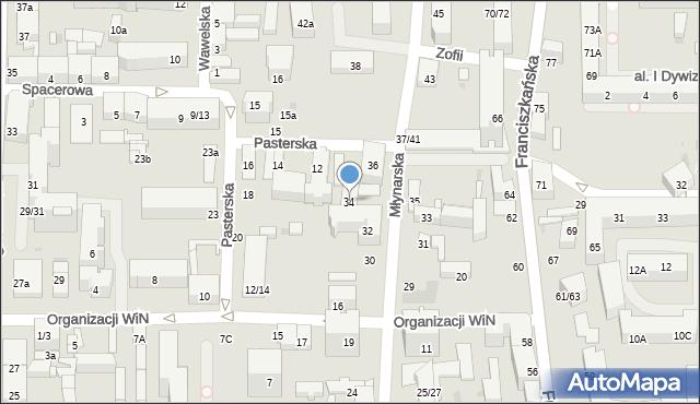 Łódź, Młynarska, 34, mapa Łodzi