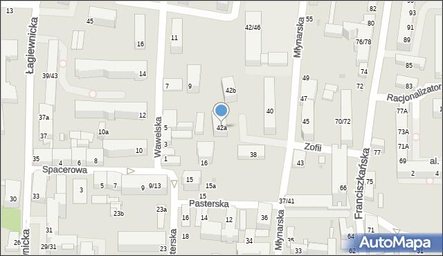 Łódź, Młynarska, 42a, mapa Łodzi