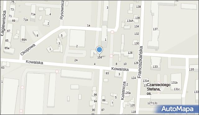 Łódź, Młynarska, 104, mapa Łodzi