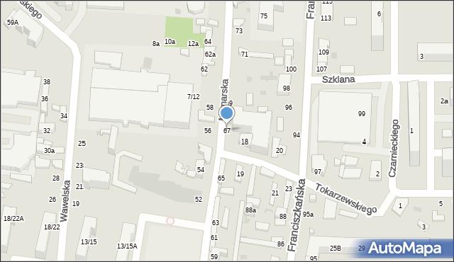 Łódź, Młynarska, 67, mapa Łodzi