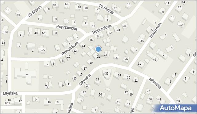 Luzino, Młyńska, 21, mapa Luzino